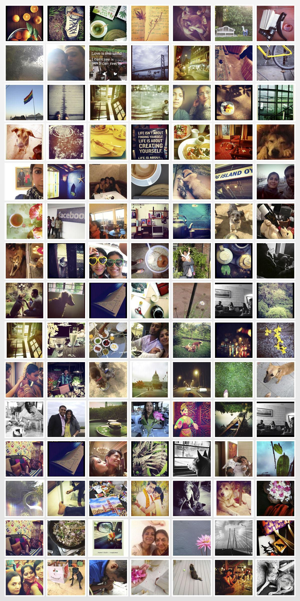 a year in instagram copy